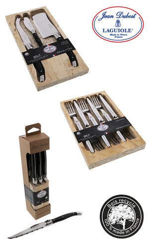 Jean Dubost Laguiole gamme Brut fabrication francaise, bois recyclé